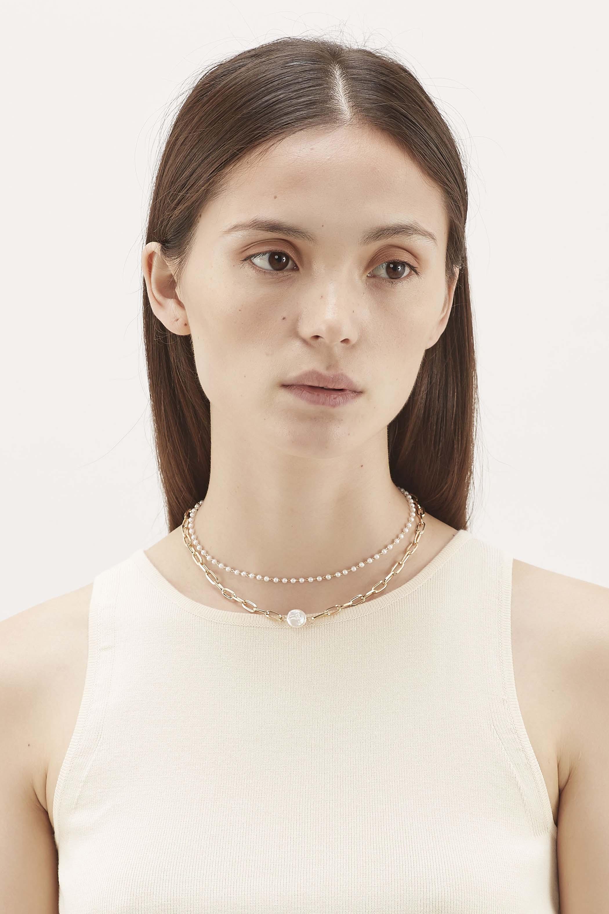 Atticus Pearl Chain Necklace
