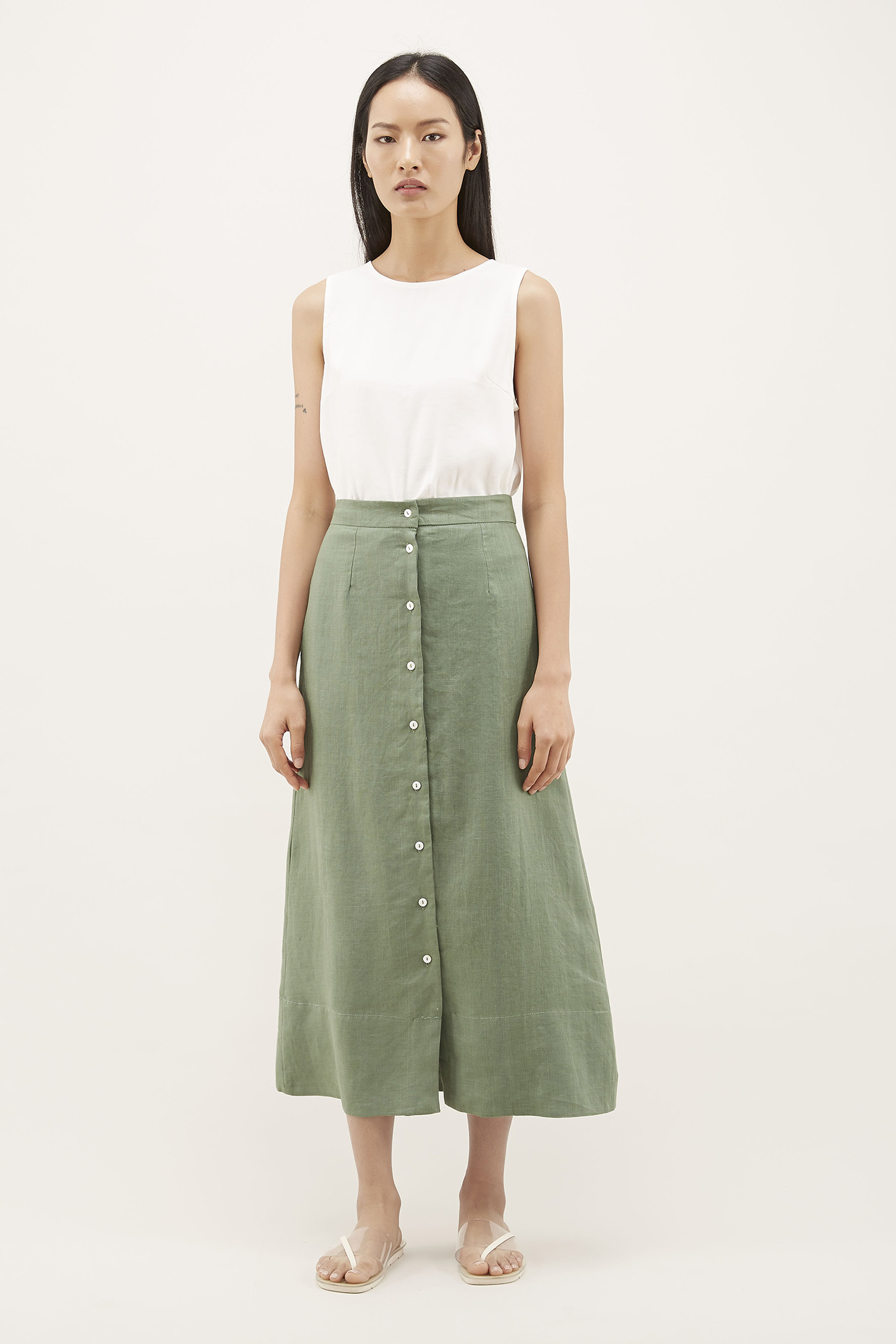 Mylie Button-through Skirt