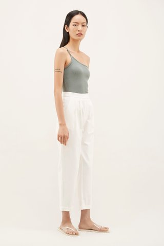 Merina One-shoulder Ribbed Tank