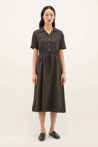 Karelle Drawstring Shirtdress