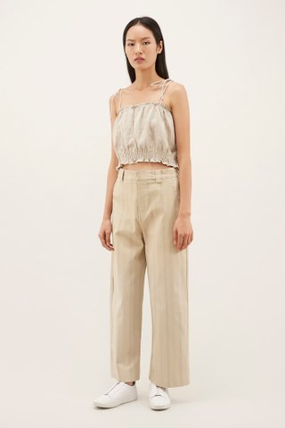 Lany Smock-Waist Crop Top
