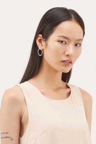 Beth Irregular Oval Earrings
