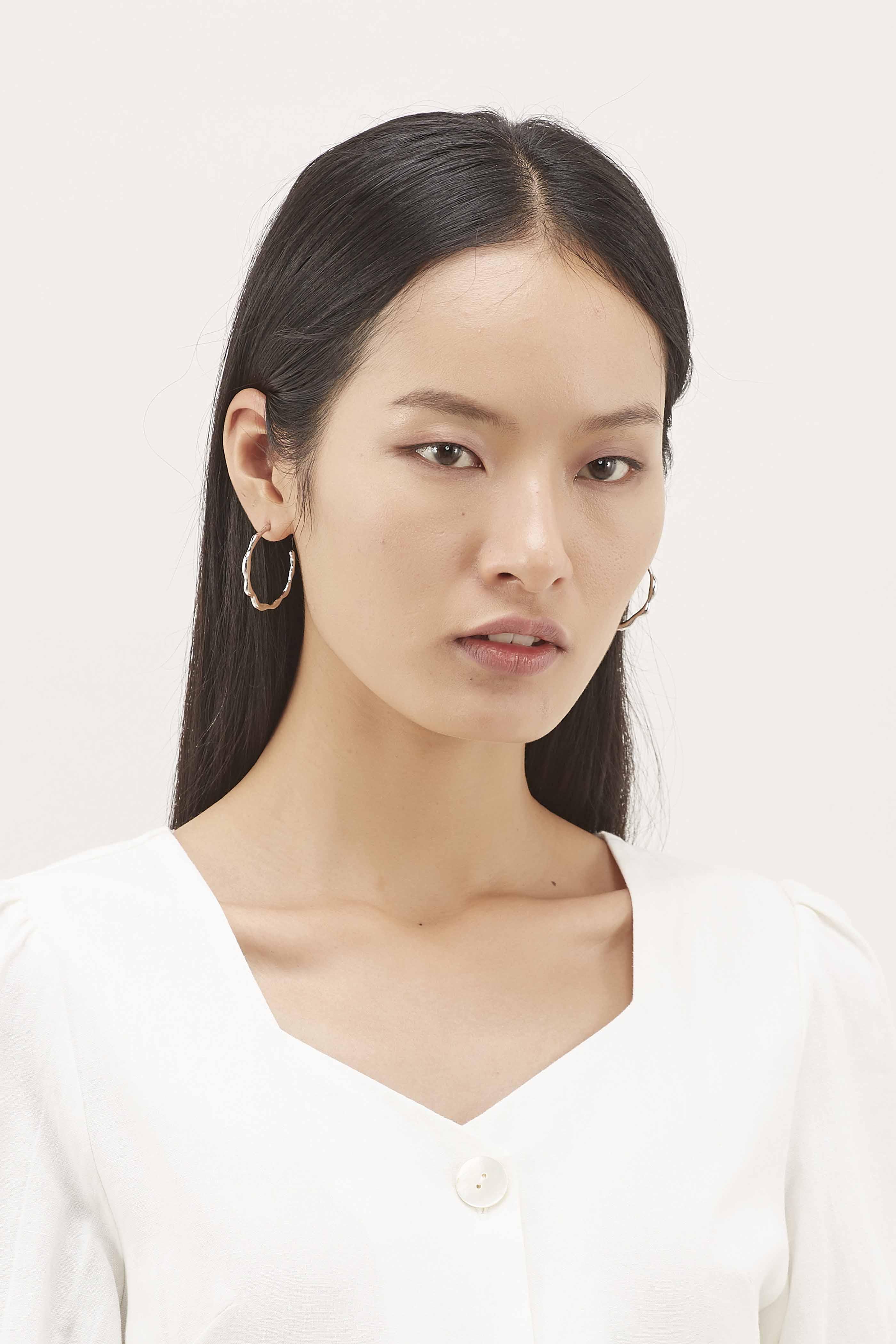 Jacyline Open Hoop Earrings