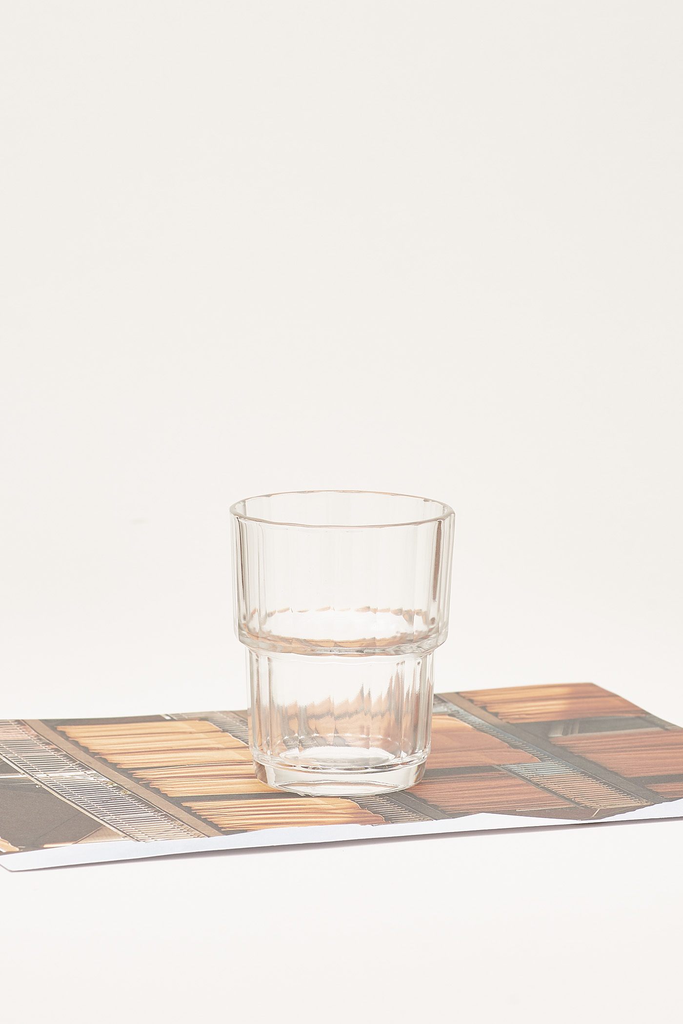 Ena Reeded-Glass Short Tumbler