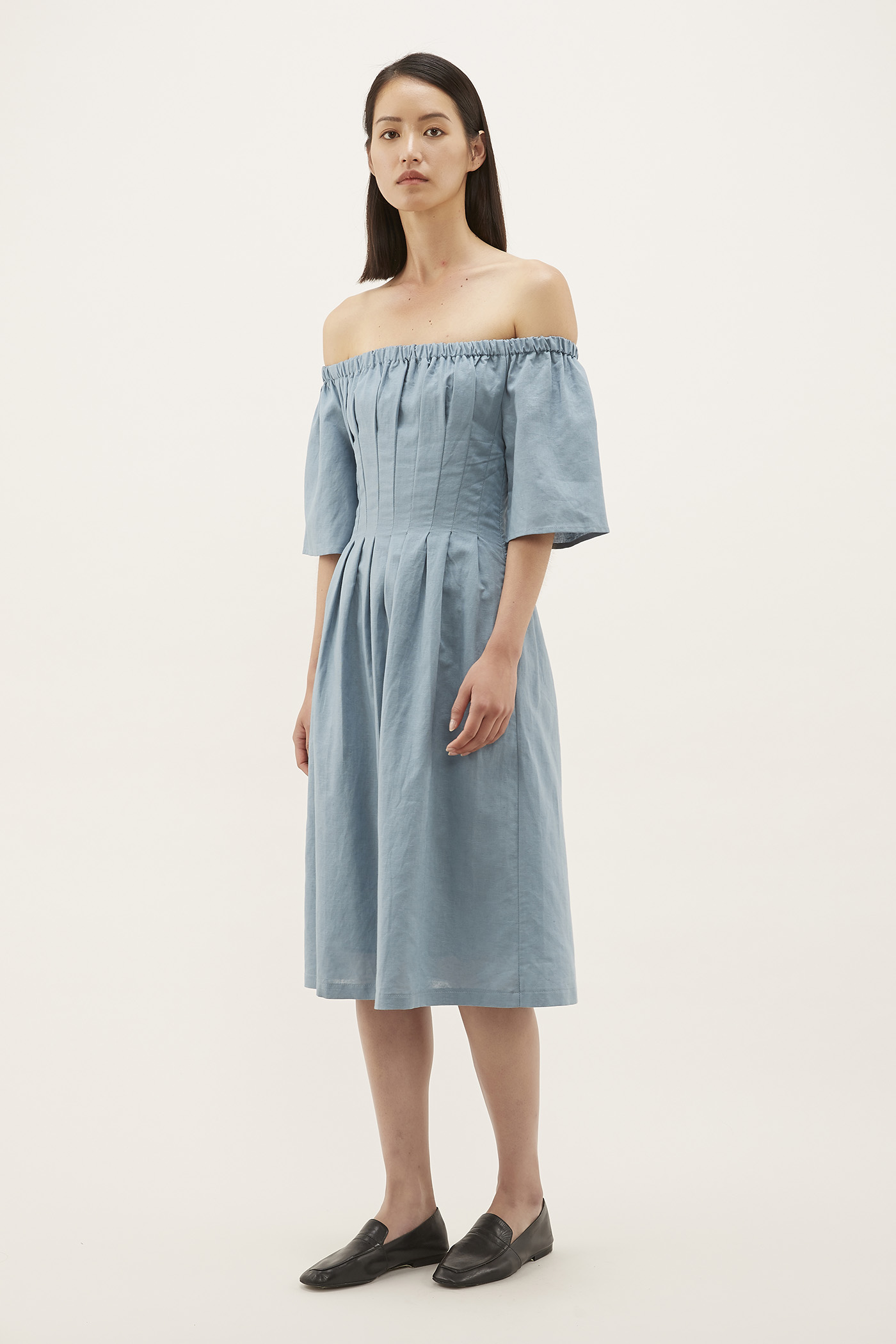 Alvera Pleat-waist Dress