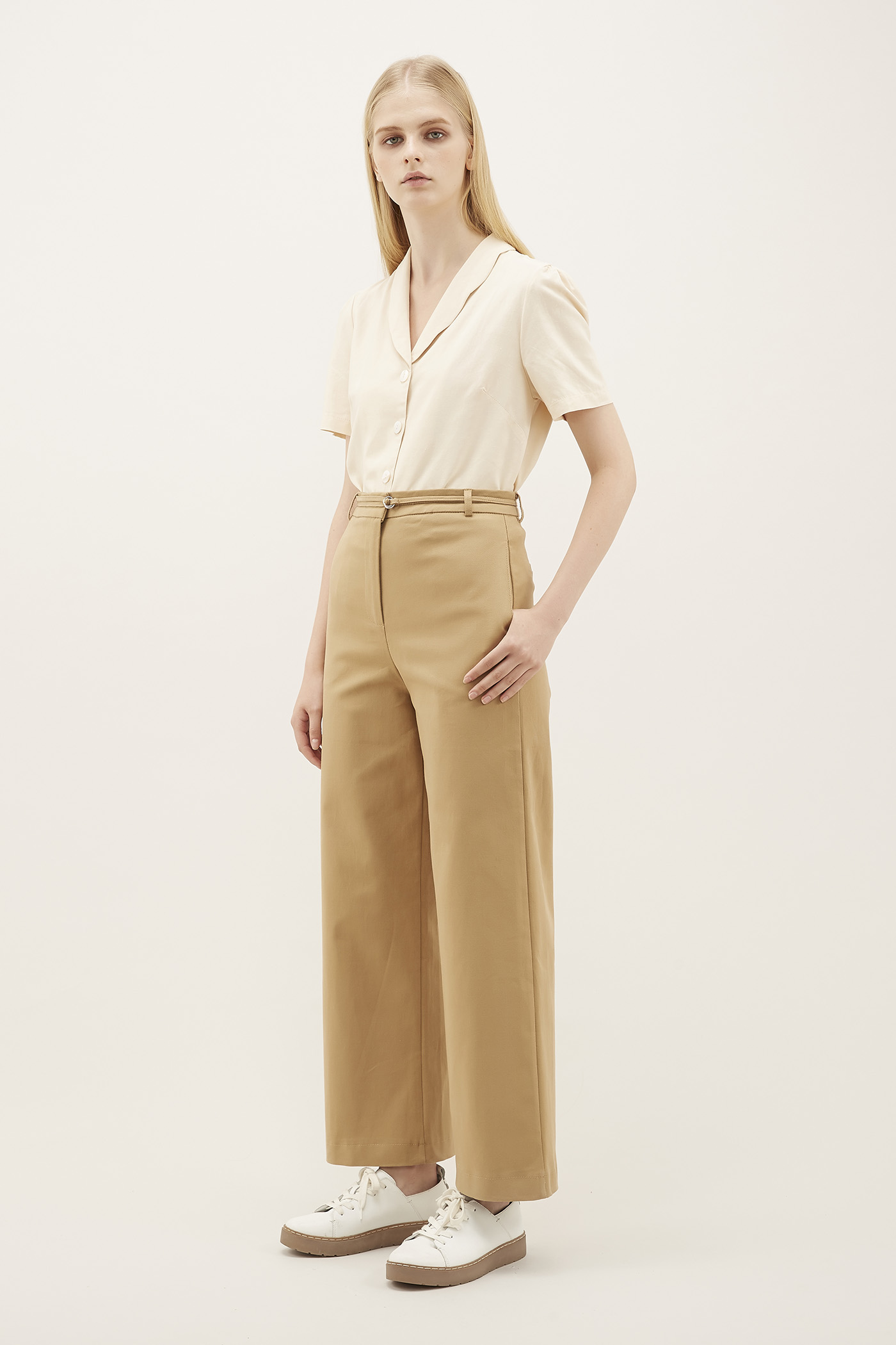 Belva Strap-belt Trousers