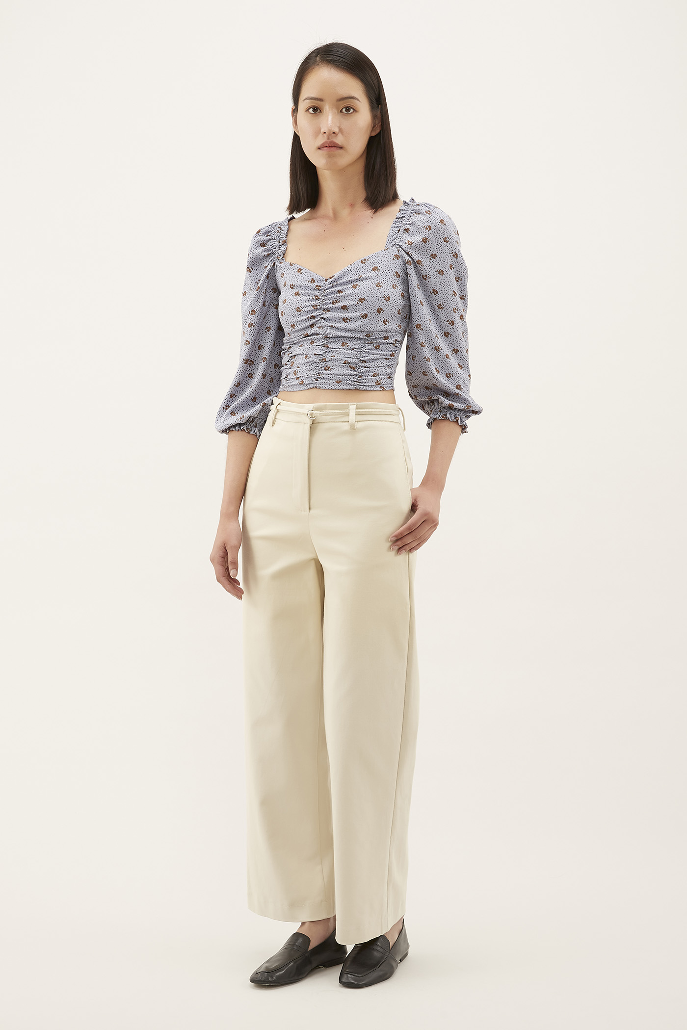 Belva Strap-belt Trousers