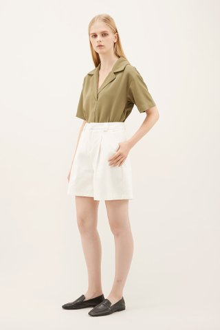 Shifa Pleat-front Shorts