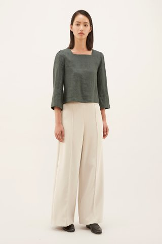 Joclyn Square-neck Blouse