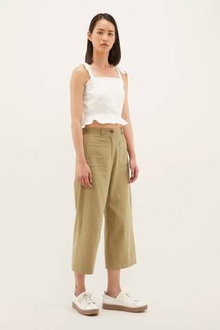 Fannie Pintuck Crop Top