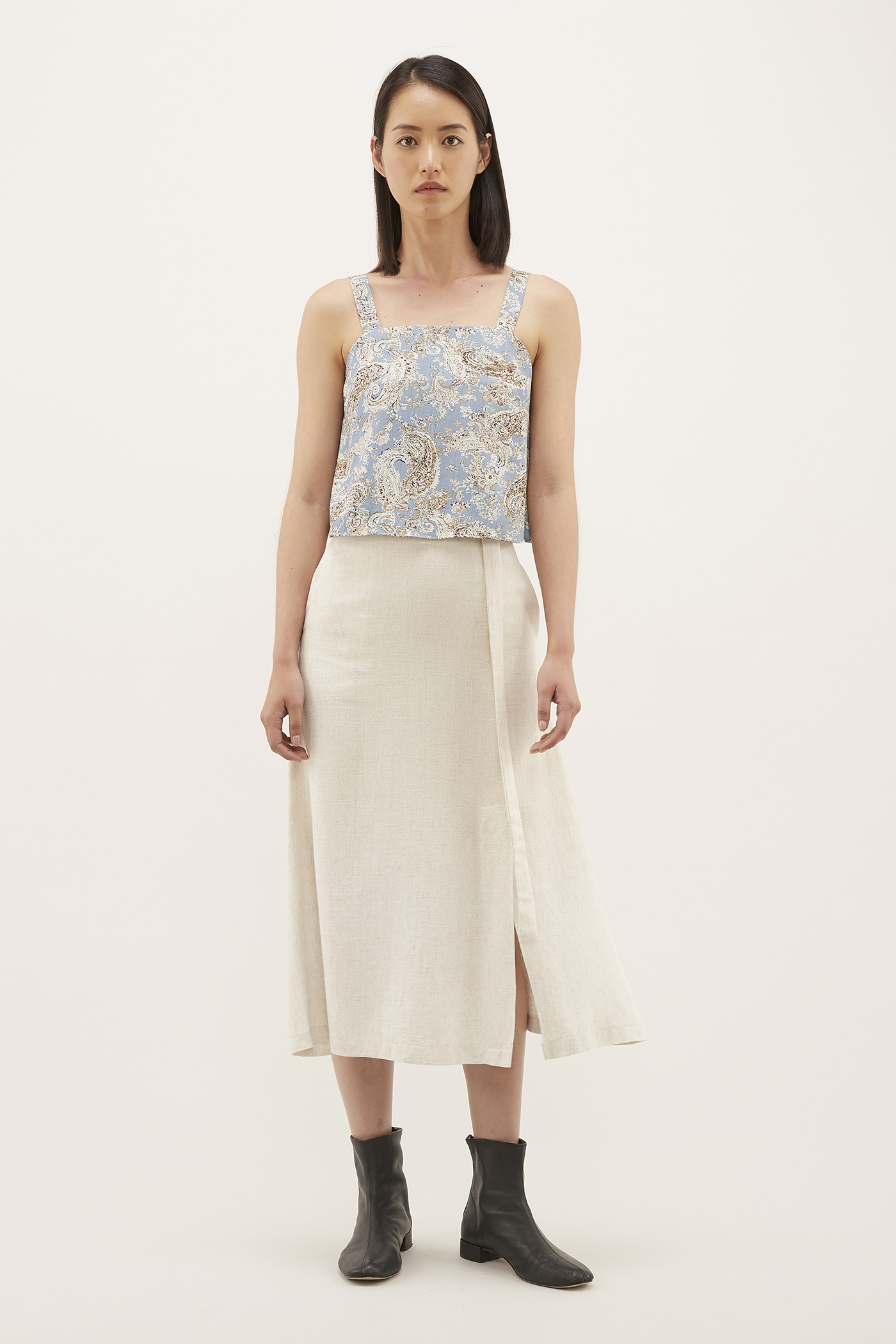 Sylvana Belted Skirt