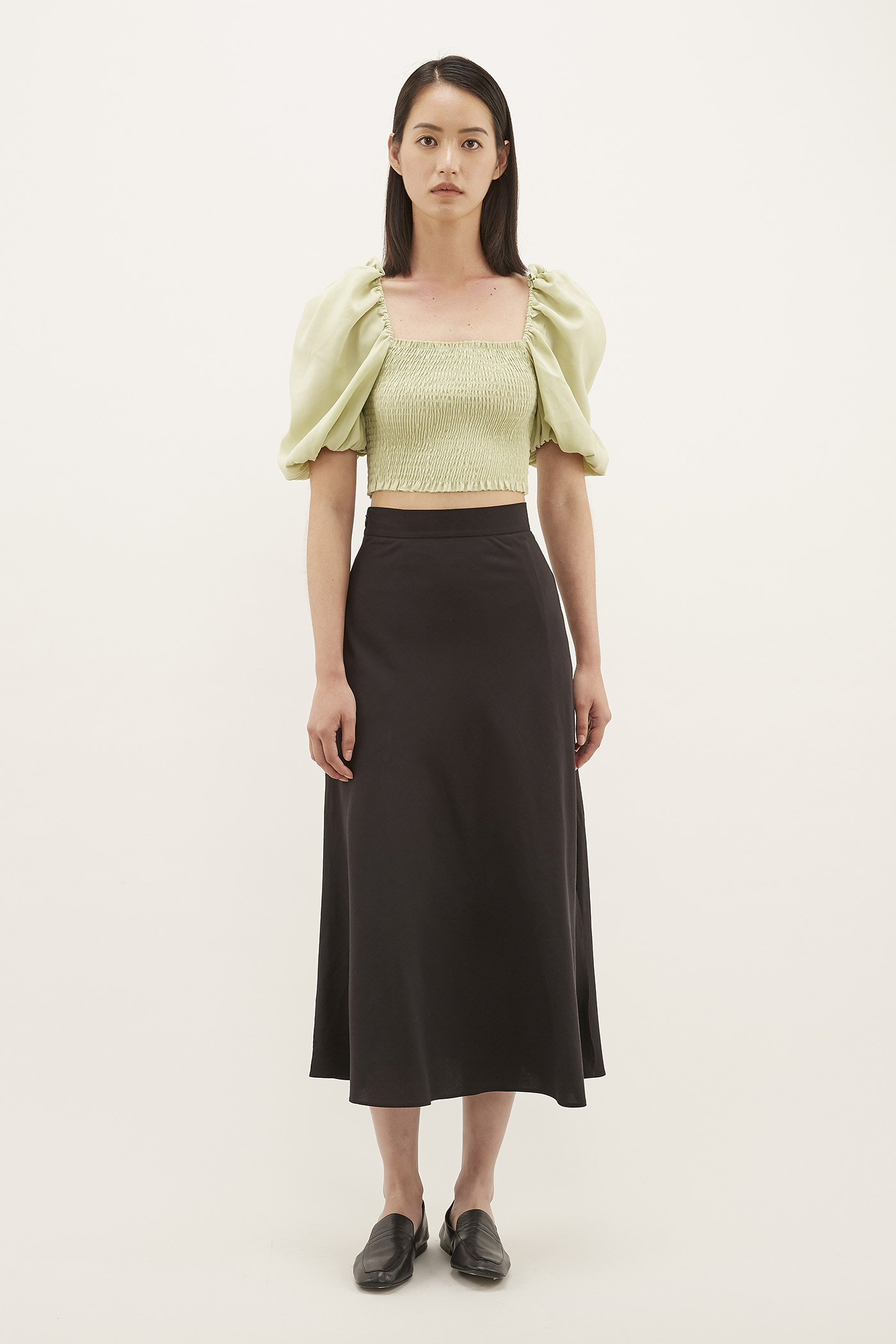 Korra Puff-sleeve Crop Top