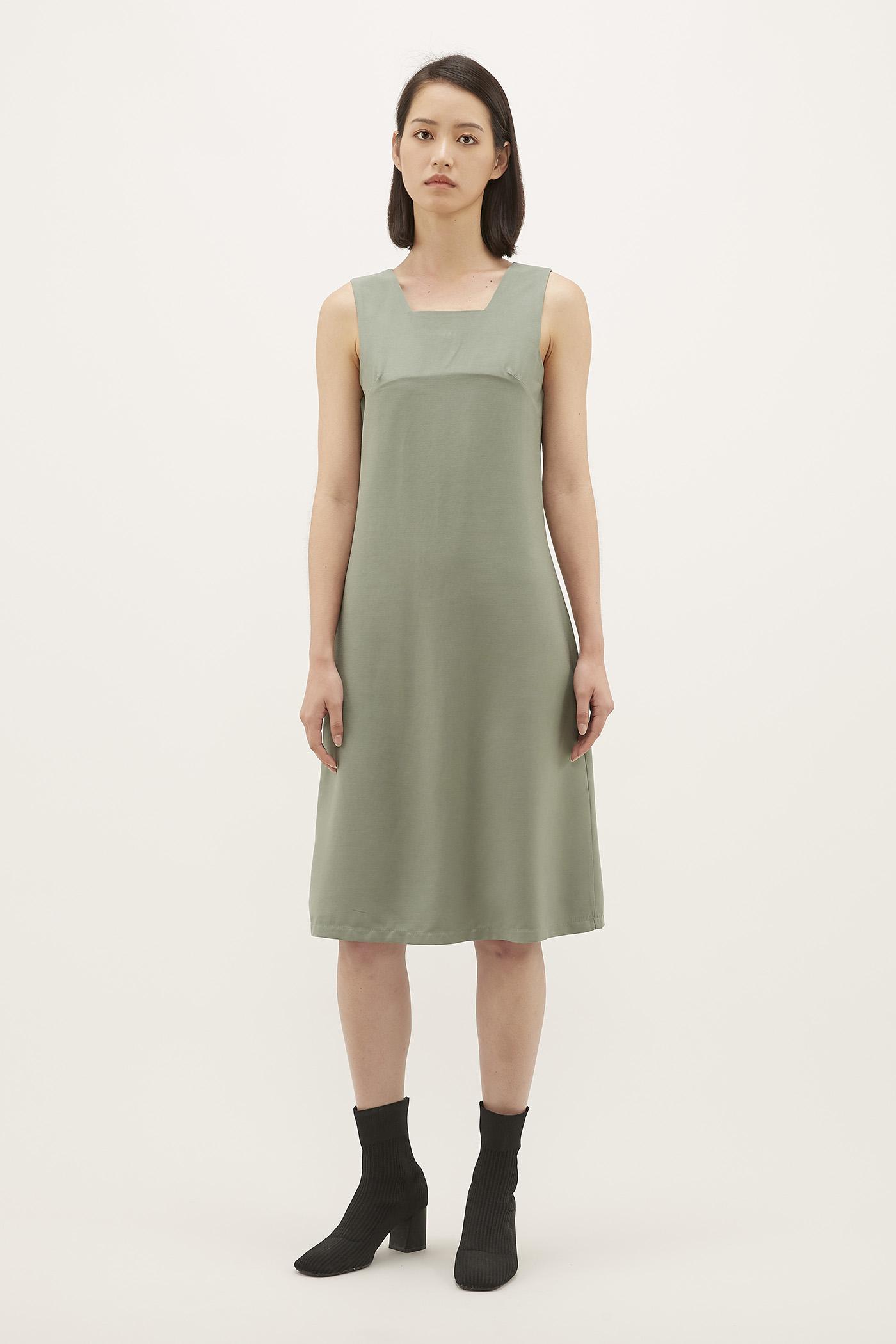 Reliza Square-neck Dress