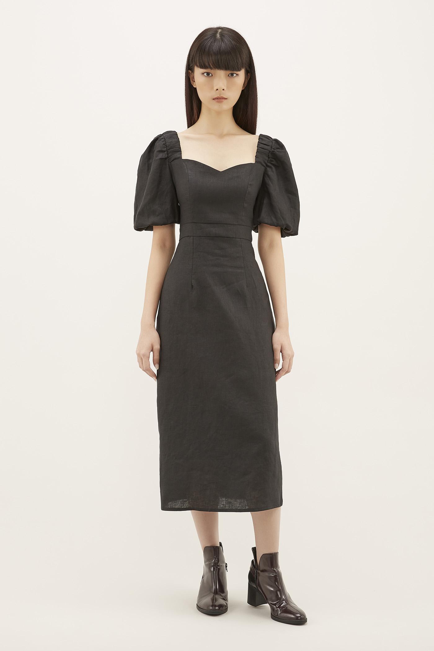 Noeline Puff-sleeve Dress