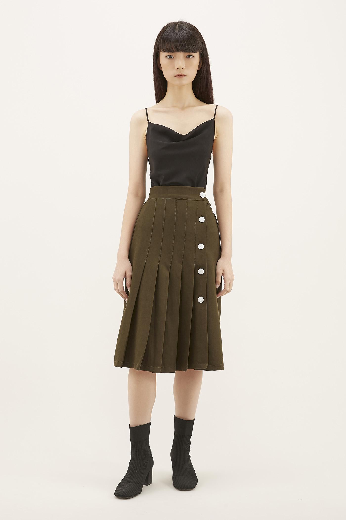 Aleena Pleated Skirt
