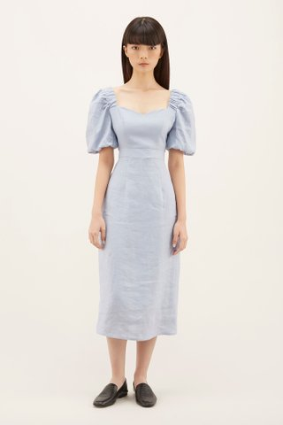 Noeline Puff-sleeve Dress