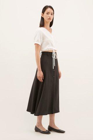 Gwene Belted Midi Skirt