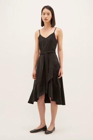Darla Frill-hem Midi Dress
