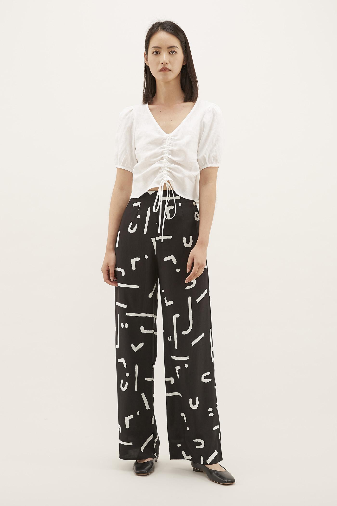Richa Side-button Pants