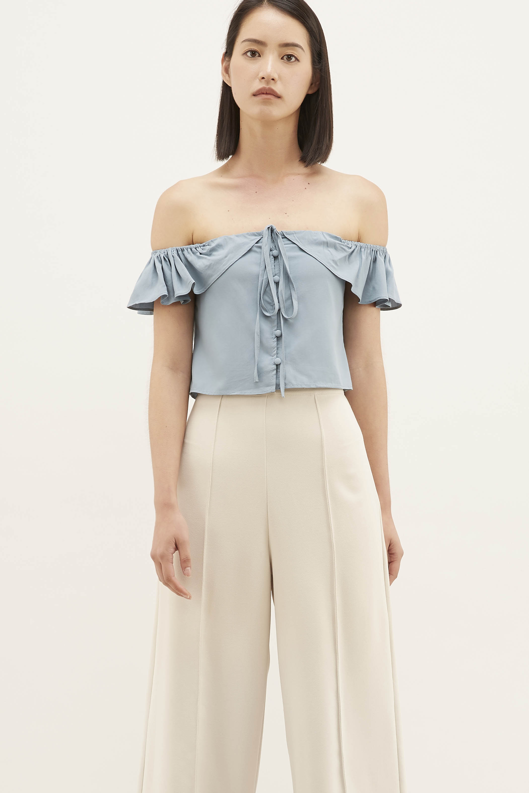 Teena Off-shoulder Crop Top