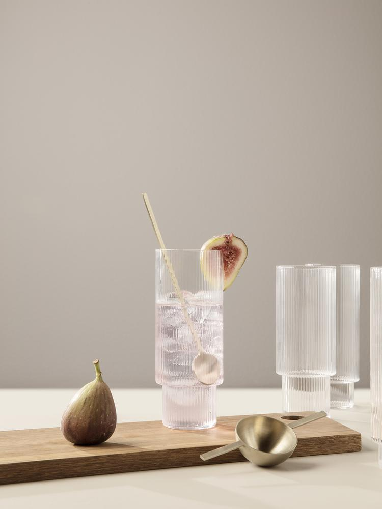 Ferm Living Ripple Long Drink Glasses Set