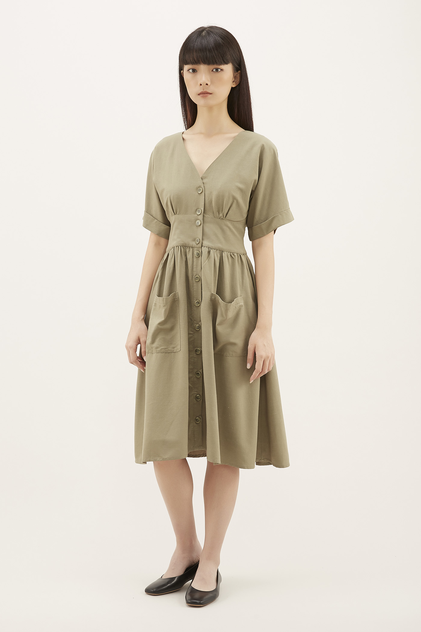 Nareen Patch-pocket Dress