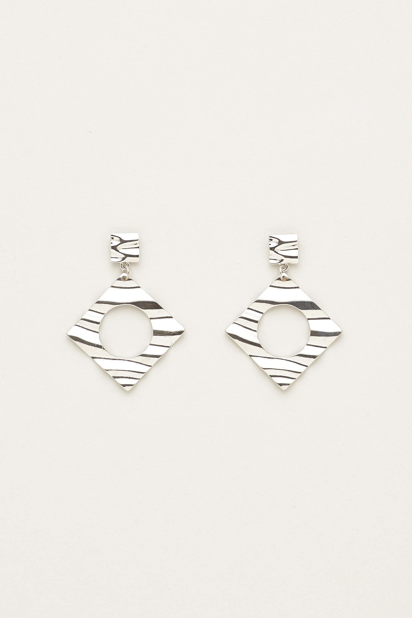 Eva Rhombus Wave Earrings