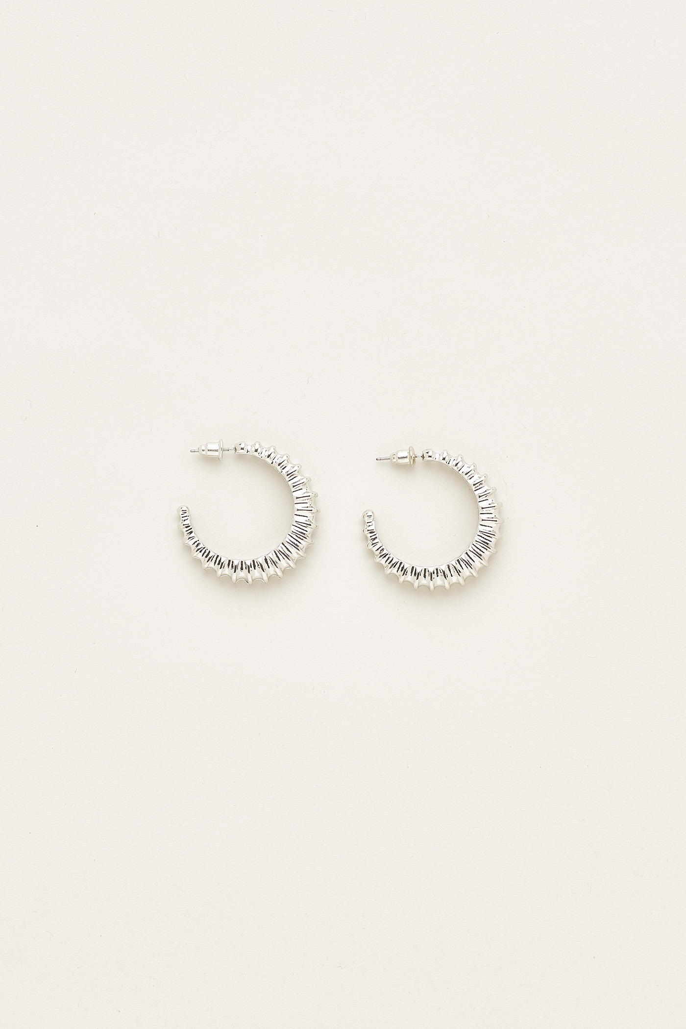 Prissy Open Hoop Earrings