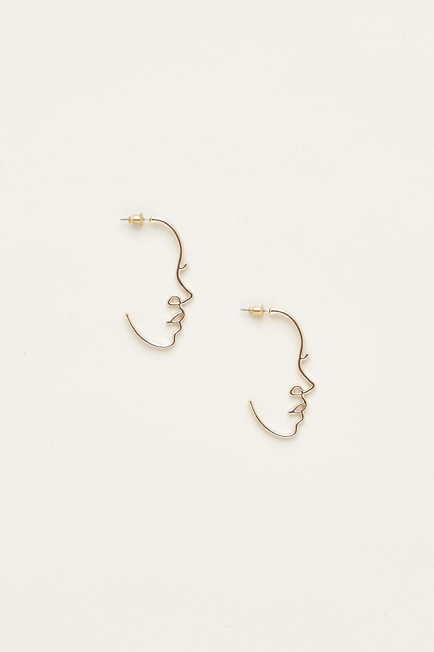Karoline Face Earrings