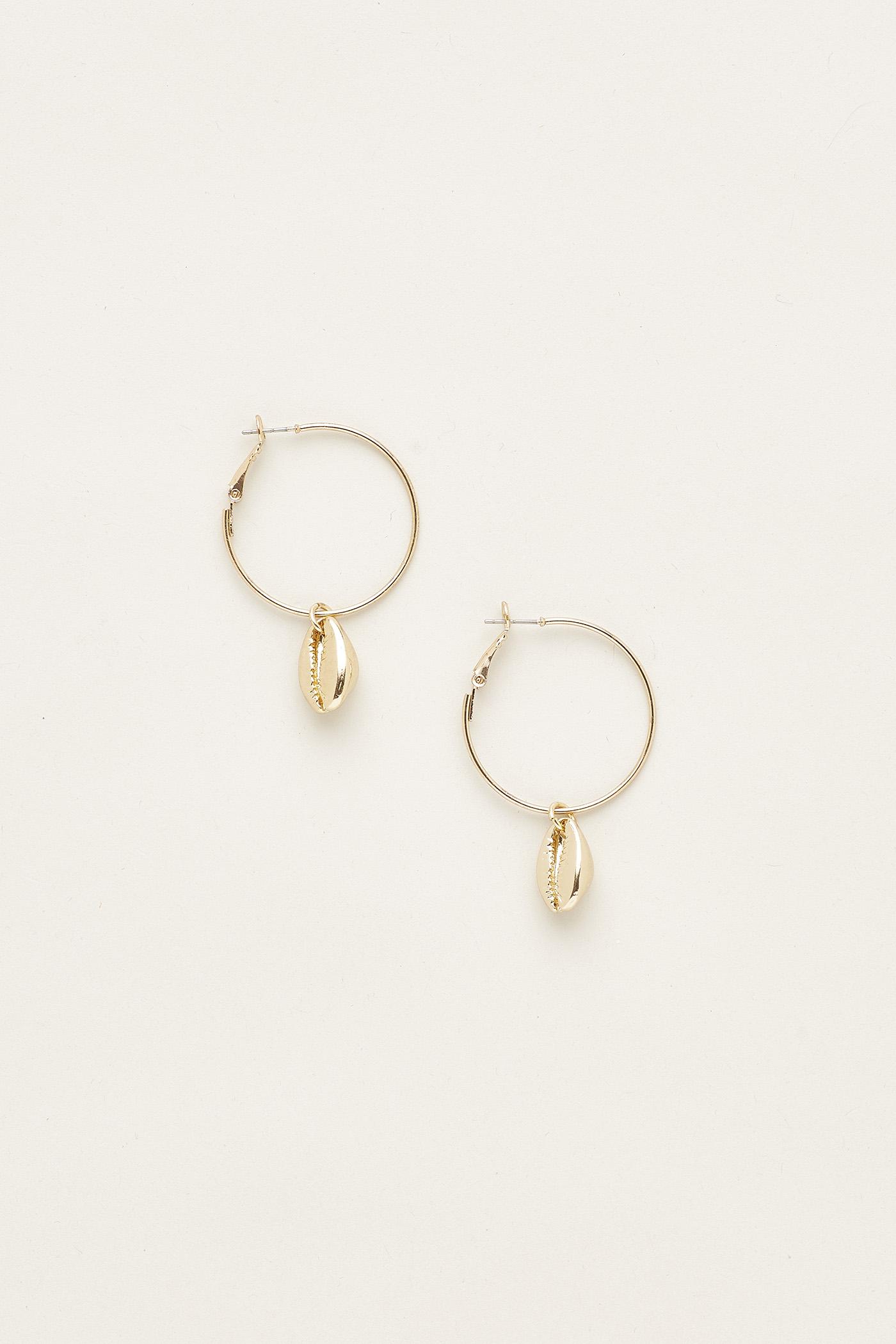 Chantal Shell Hoop Earrings