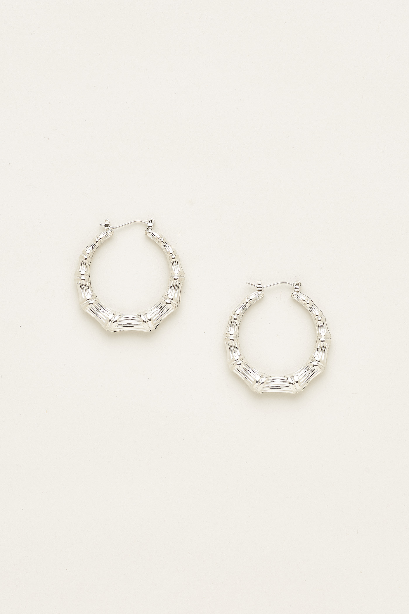 Elsa Bamboo Hoop Earrings