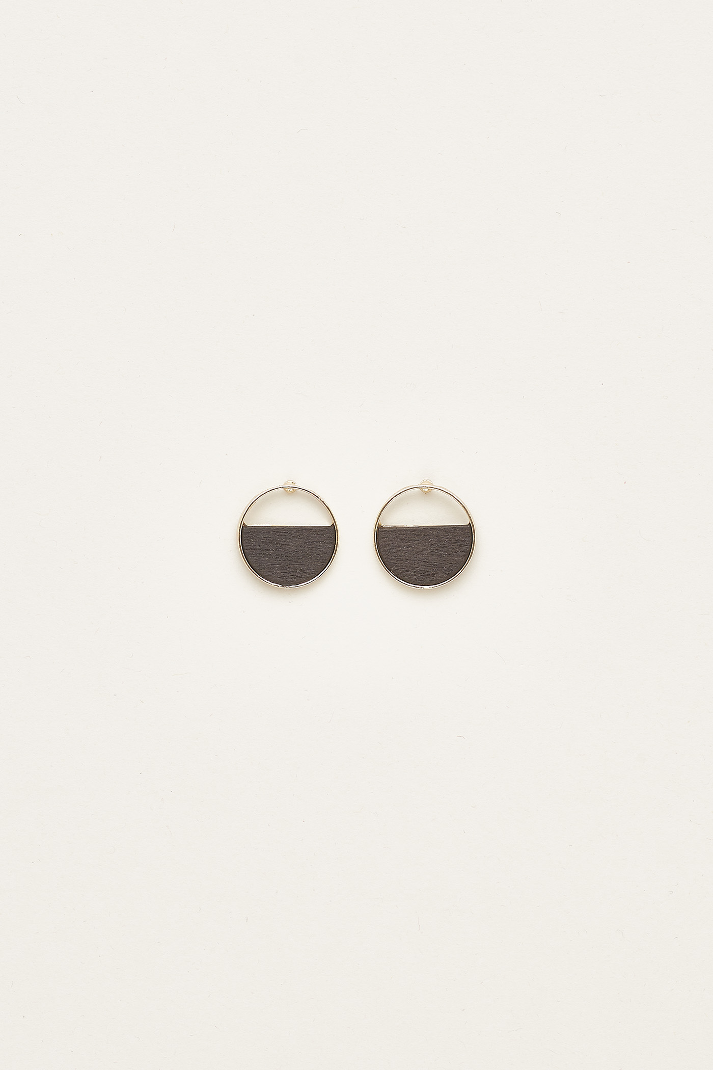 Krystyn Circle Wood Earrings