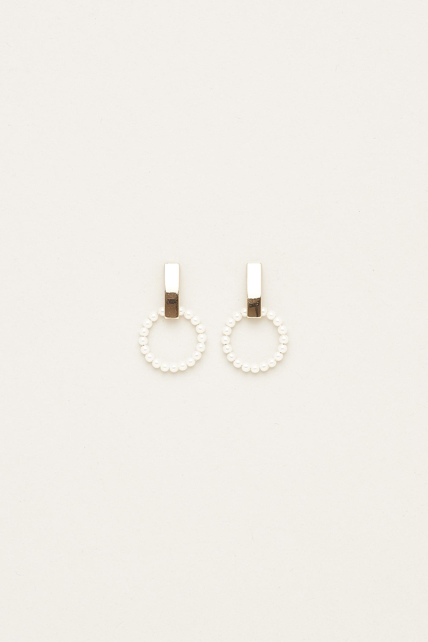 Valerie Pearl Hoop Earrings