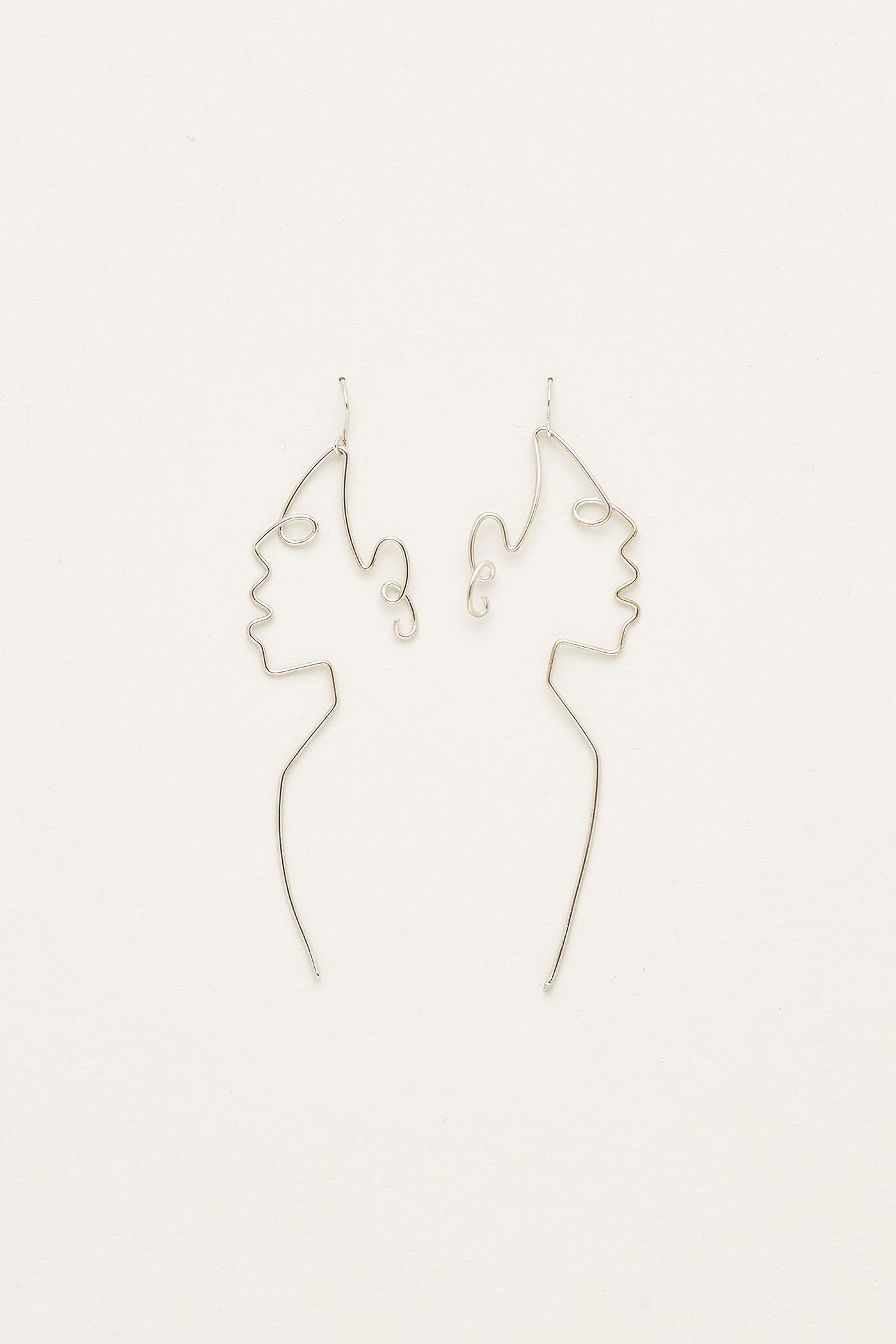 Jaylen Face Earrings