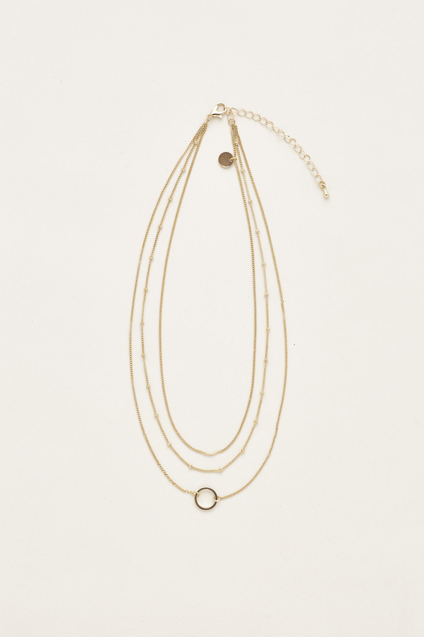 Jerica Circle Layered Necklace