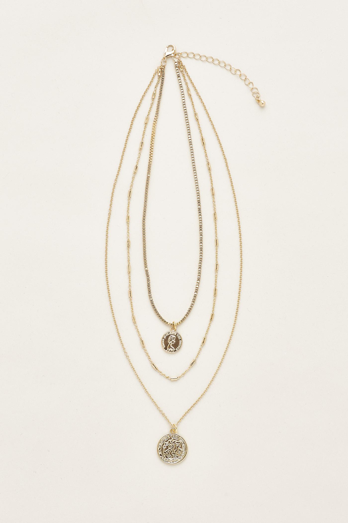 Leeanna Coin Layered Necklace
