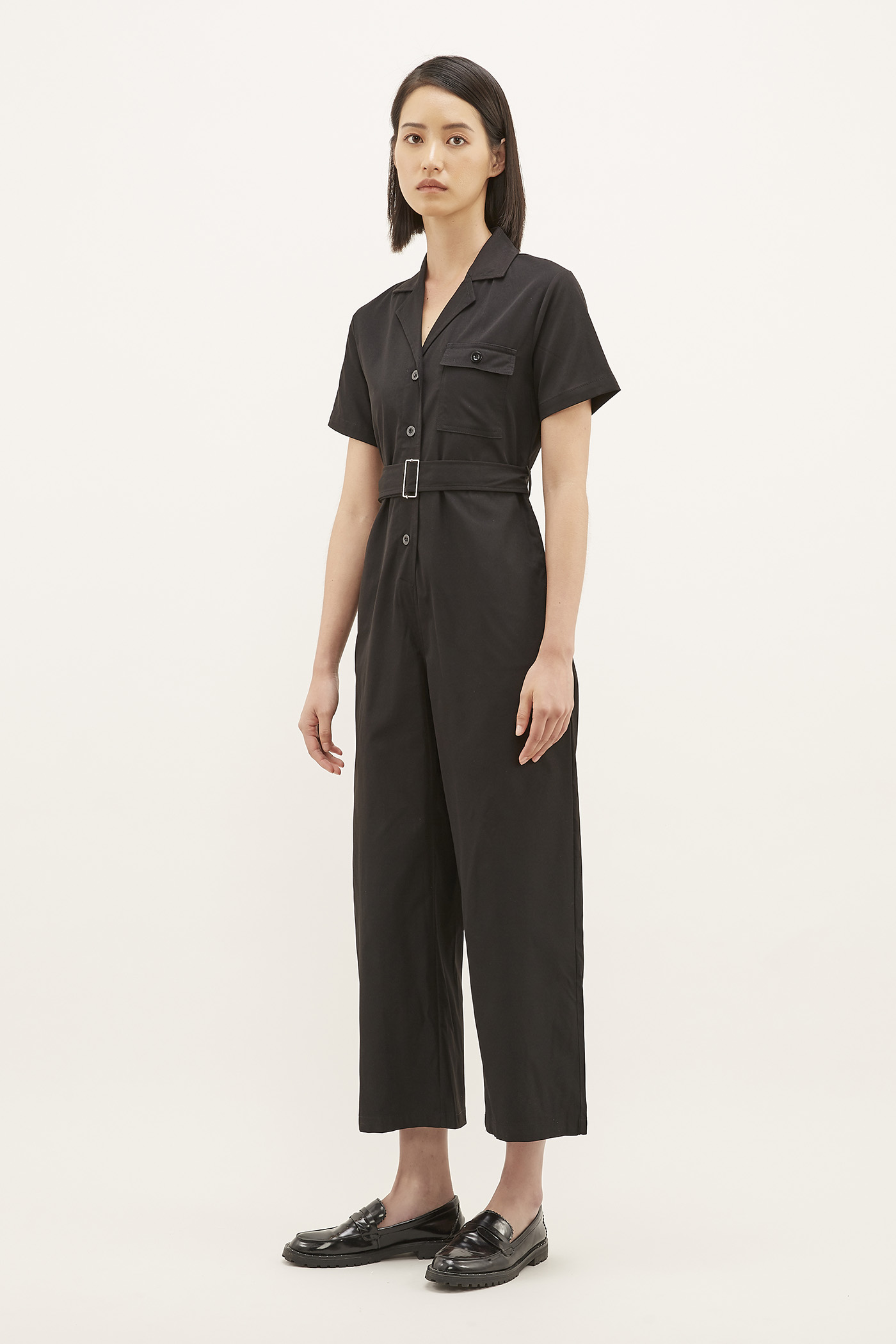 Yosef Collared Jumpsuit