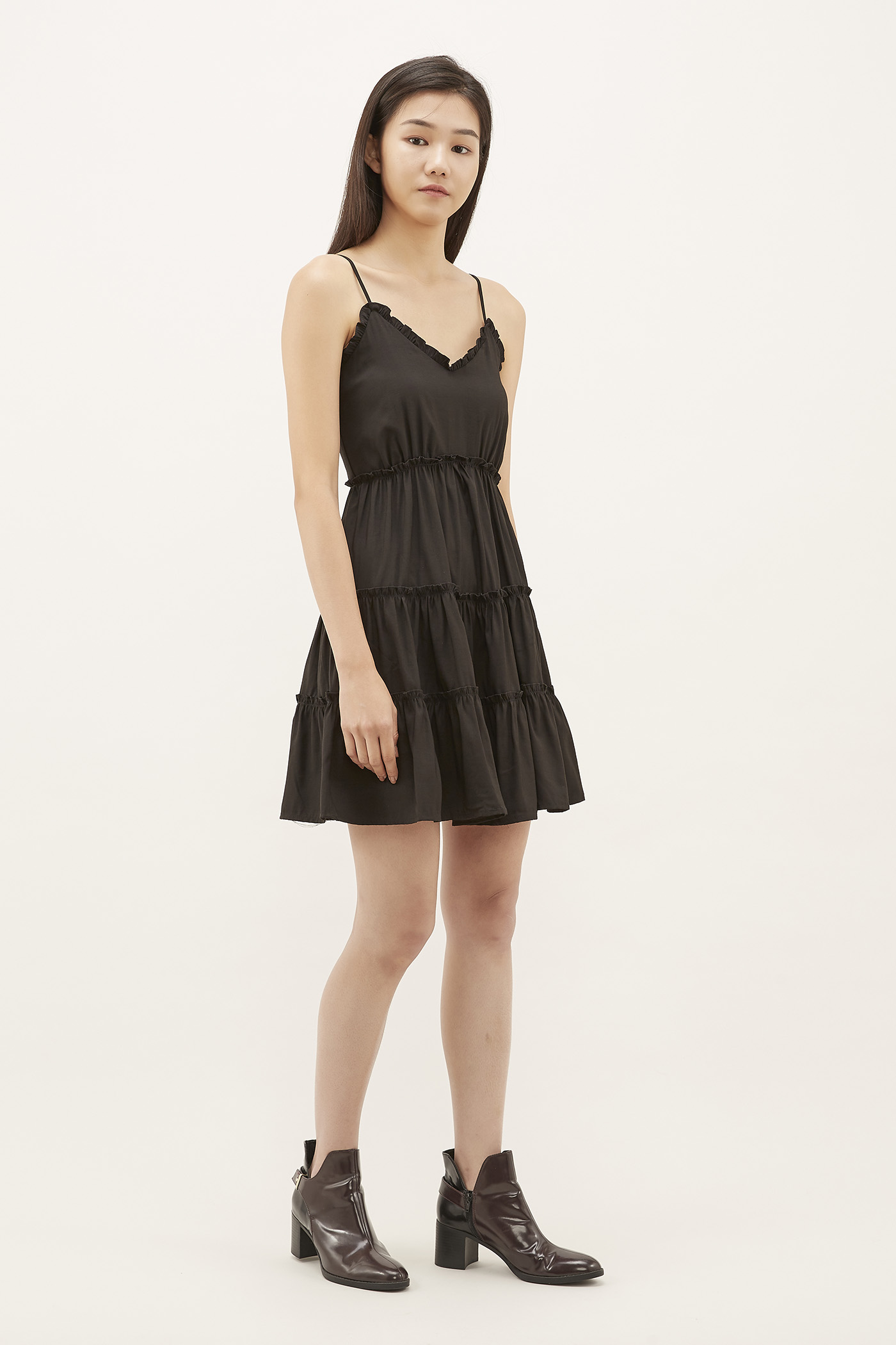 Daviel Frill-trim Tiered Dress