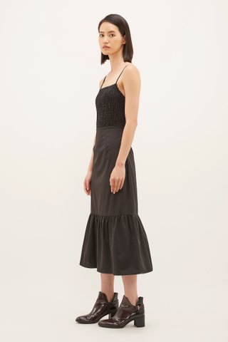 Ashleen Shirred Midi Dress