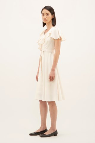 Aryssa Ruffle-trim Midi Dress