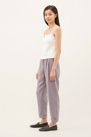 Noely Textured Fitted Top