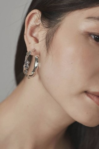 Tera Open Hoop Earrings