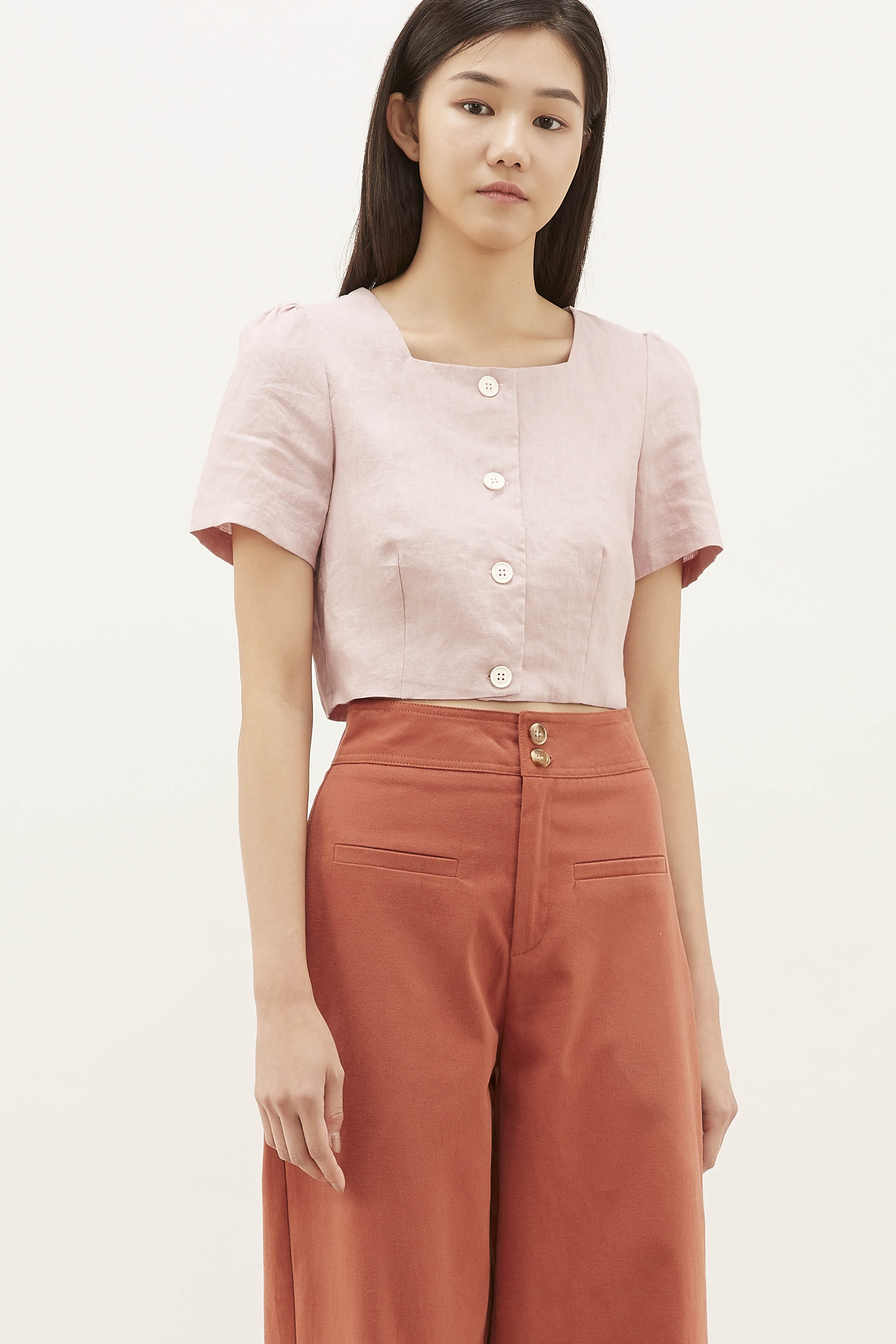 Teana Square-neck Crop Top