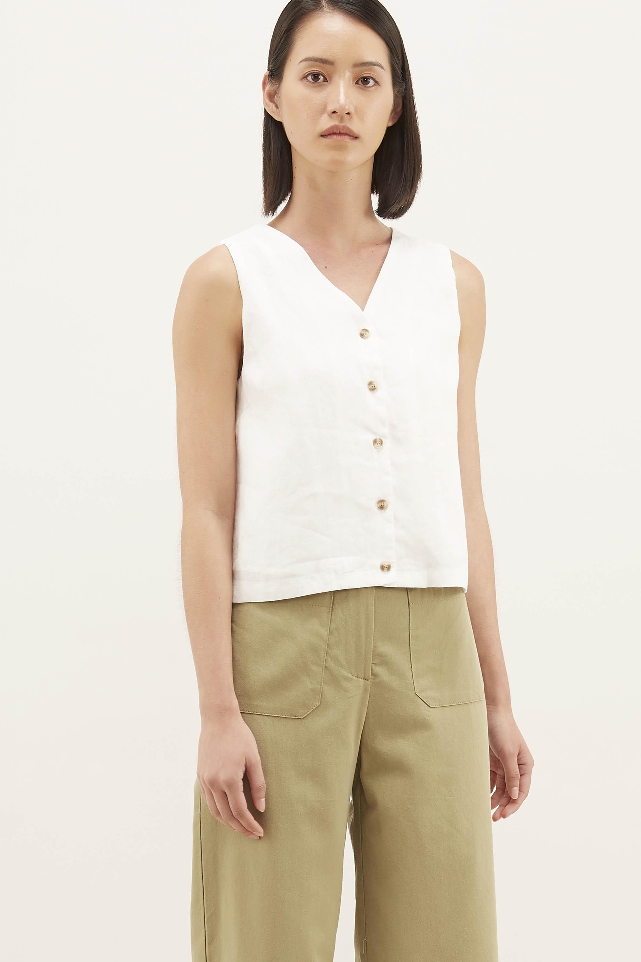 Camisha Linen Top