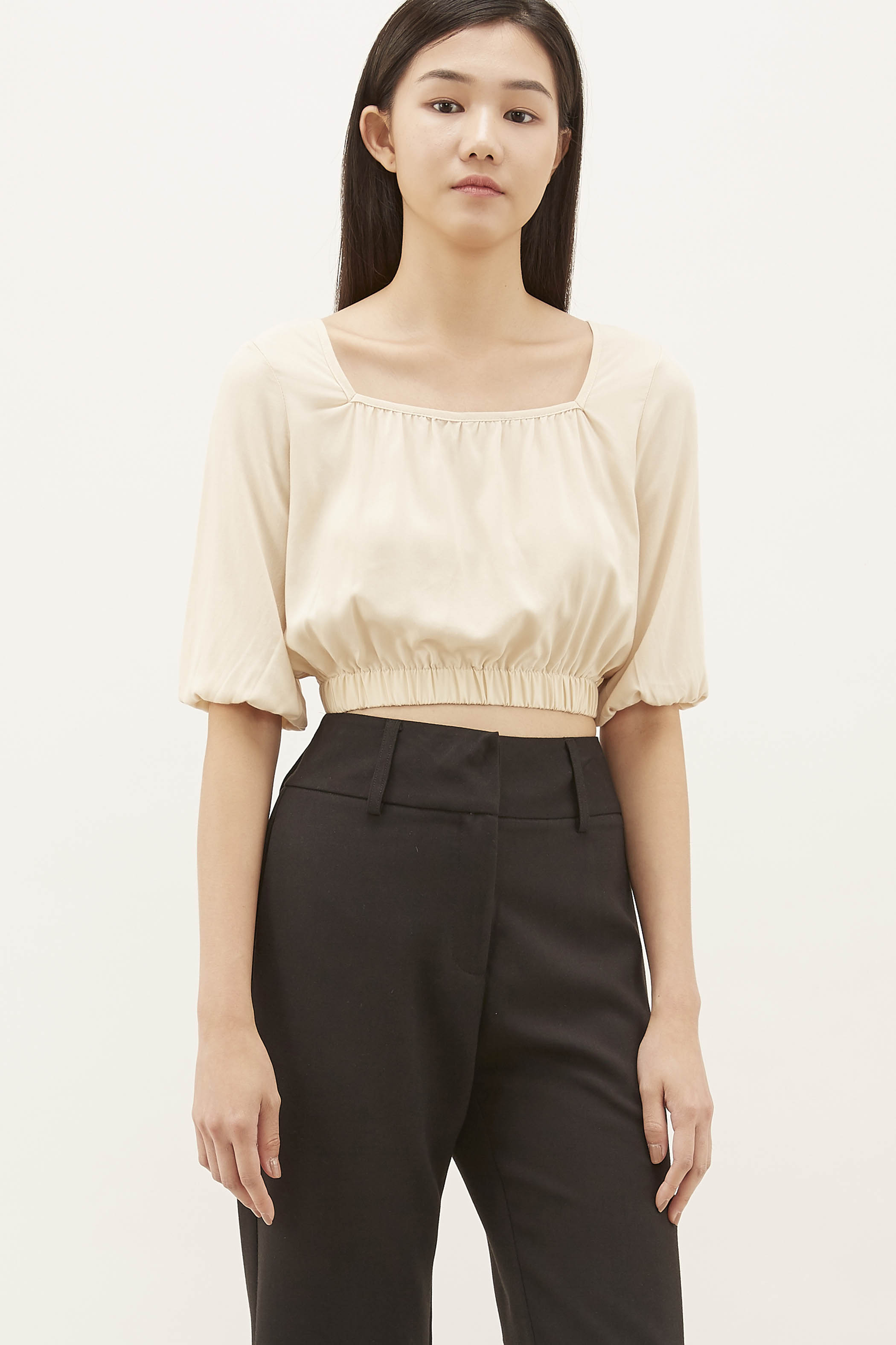 Zena Square-neck Crop Top