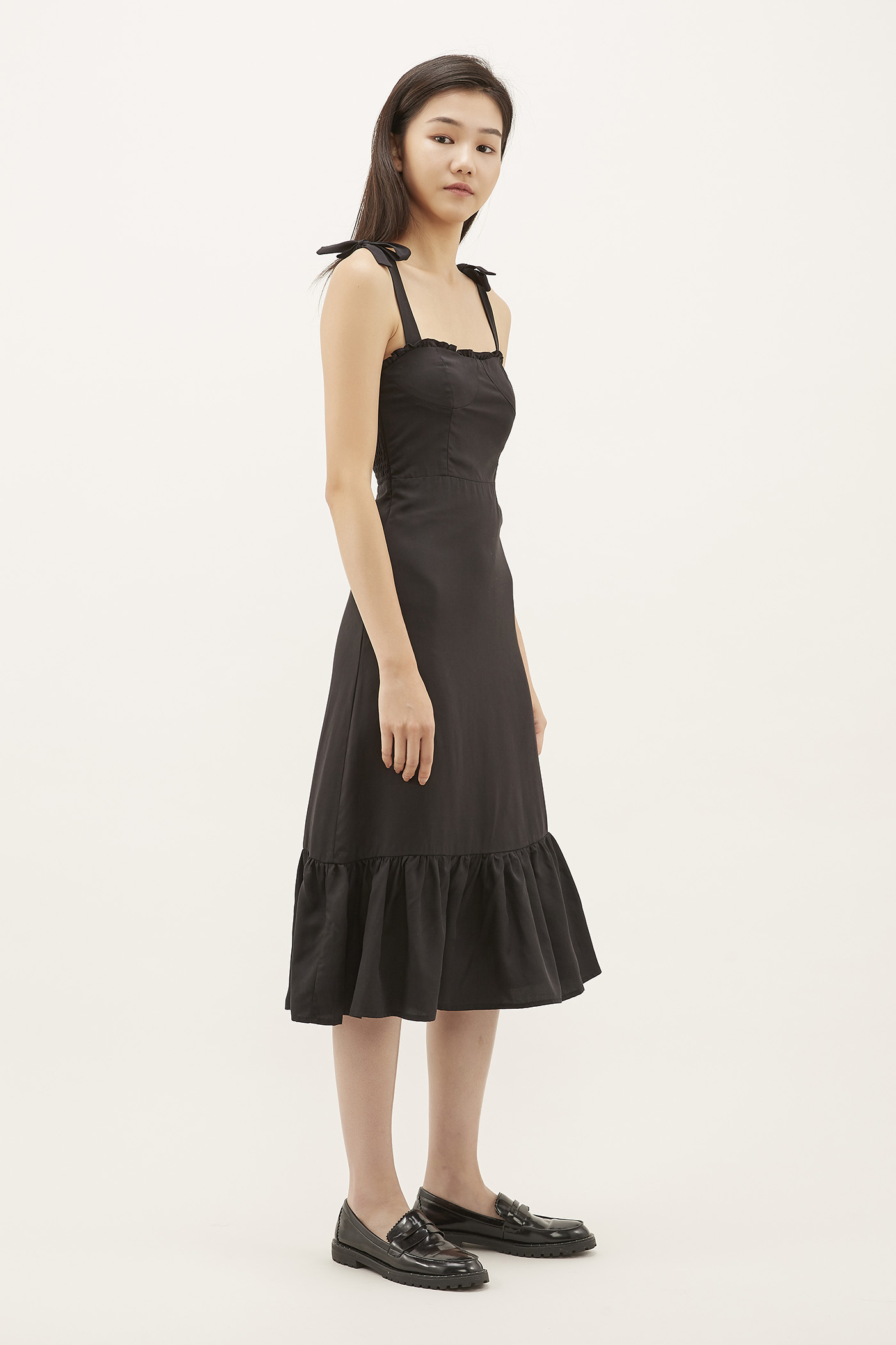 Varita Frill-trim Fitted Dress