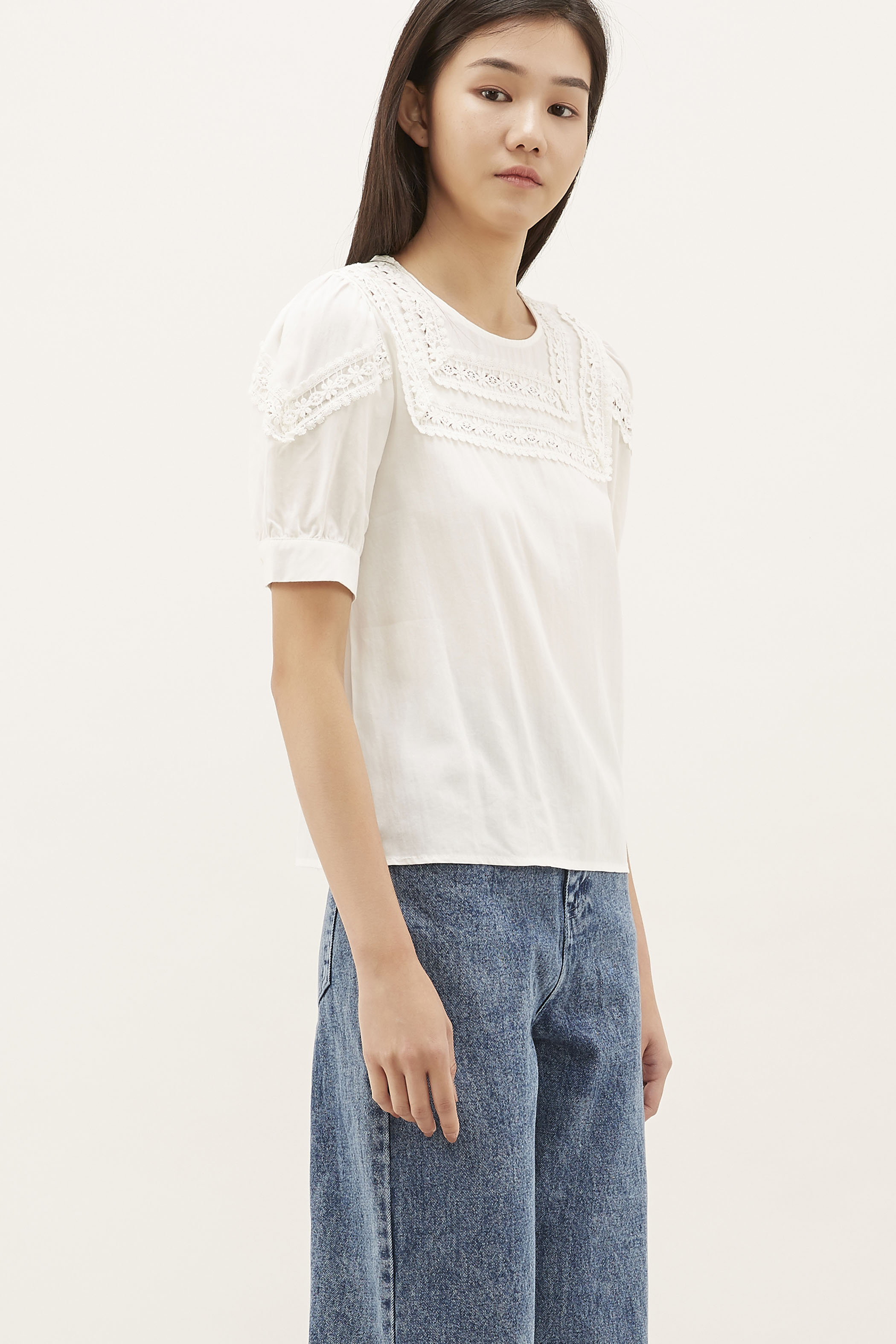 Hellen Crochet-trim Blouse