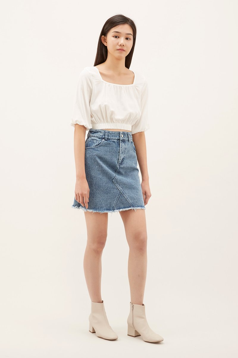 on feet at special section offer discounts Liona Denim Mini Skirt | The Editor's Market
