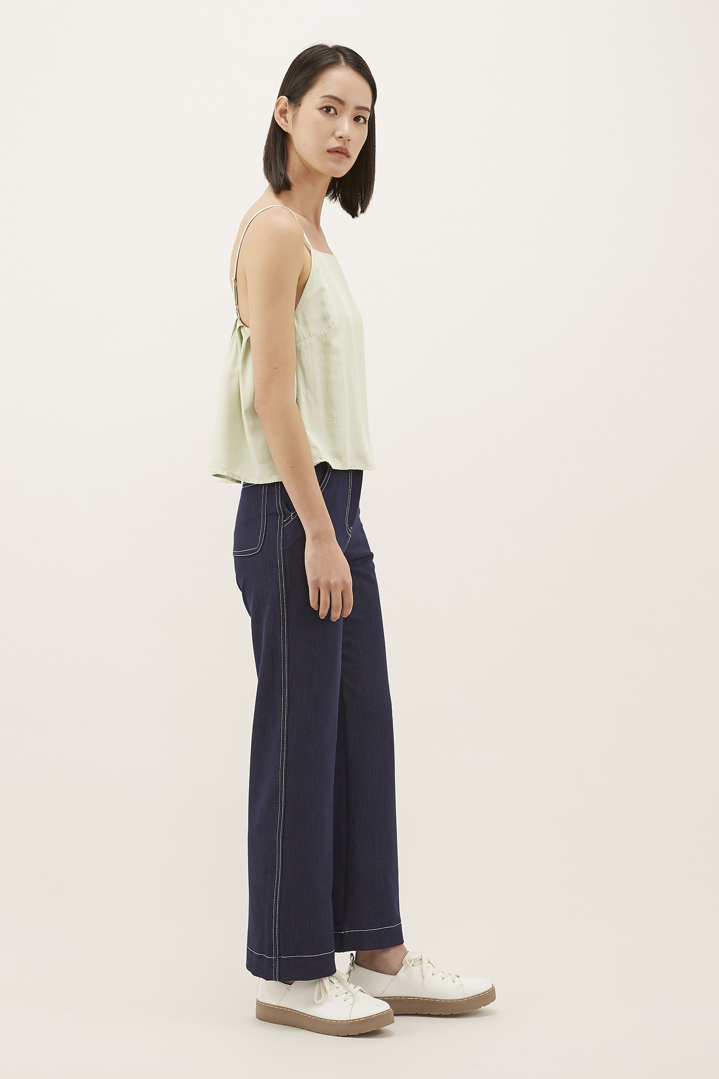 Aslen Top-Stitch Pants