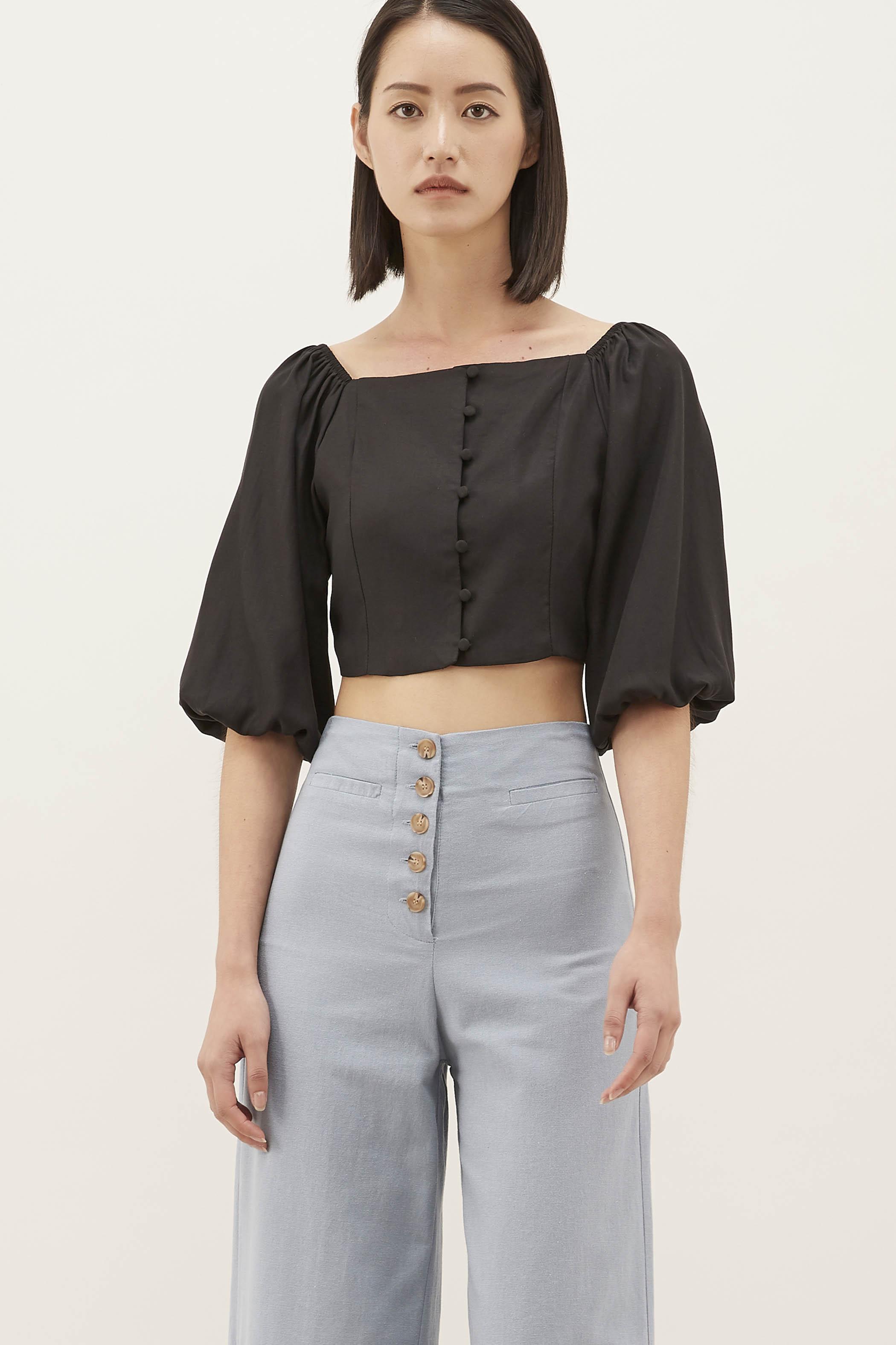 Elysa Square-neck Crop Top